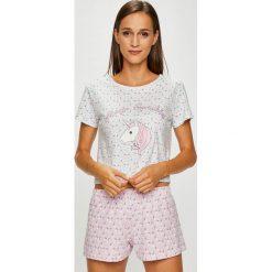 Answear - Piżama +opaska na oczy. Szare piżamy damskie ANSWEAR, l, z bawełny. W wyprzedaży za 69,90 zł.