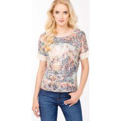 T-shirty damskie: Wzorzysty t-shirt z cekinami