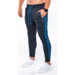 SPODNIE MĘSKIE DRESOWE P730 - GRANATOWE/NIEBIESKIE. Niebieskie spodnie dresowe męskie Ombre Clothing, z bawełny. Za 59,00 zł.