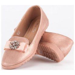 Baleriny damskie: Eleganckie baleriny Nio Nio różowe