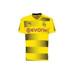 Koszulka krótki rękaw do piłki nożnej Dortmund. Żółte t-shirty damskie Puma, l, z materiału. Za 219,99 zł.