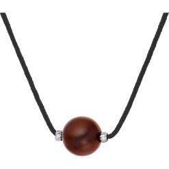 Naszyjniki damskie: Naszyjnik w kolorze czarnym z hodowlaną perłą słodkowodną – dł. 42 cm