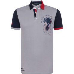 """Koszulki polo: Koszulka polo """"Skull"""" w kolorze szarym"""