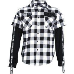 Koszule męskie na spinki: Czarno-Biała Koszula Invariably