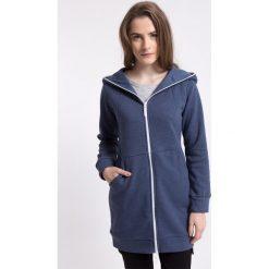 Bluza damska BLD274 - granatowy melanż. Niebieskie bluzy chłopięce rozpinane 4f, na jesień, melanż, z bawełny, z długim rękawem, długie, z kapturem. Za 99,99 zł.