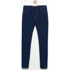 Legginsy dziewczęce: Jeansowe legginsy – Granatowy