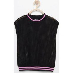 Odzież dziecięca: Siateczkowa bluzka be active – Czarny