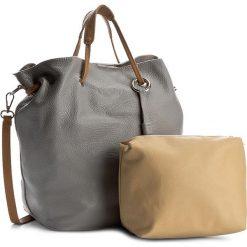 Torebka CREOLE - K10369 Szary. Szare torebki klasyczne damskie Creole, ze skóry, duże. W wyprzedaży za 259,00 zł.