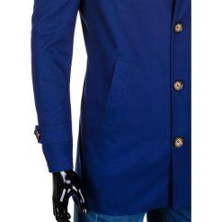 PŁASZCZ MĘSKI C269 - GRANATOWY. Niebieskie płaszcze na zamek męskie Ombre Clothing, m, z bawełny, eleganckie. Za 149,00 zł.