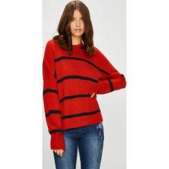 Vero Moda - Sweter Jasmin. Szare swetry klasyczne damskie marki Vero Moda, l, z dzianiny, z okrągłym kołnierzem. Za 119,90 zł.