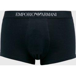 Emporio Armani - Bokserki. Szare bokserki męskie marki Emporio Armani, l, z nadrukiem, z bawełny, z okrągłym kołnierzem. Za 189,90 zł.