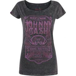 Johnny Cash EMP Signature Collection Koszulka damska szaro-brązowy. Brązowe bluzki asymetryczne Johnny Cash, xxl, z aplikacjami, vintage. Za 79,90 zł.