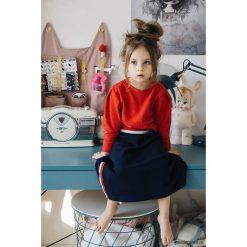 Spódniczki dziewczęce z falbankami: Spódnica granat z lampasami