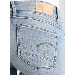 GStar LYNN ULTRA HIGH SKINNY Jeans Skinny Fit light blue denim. Niebieskie jeansy damskie marki G-Star, z bawełny. W wyprzedaży za 365,40 zł.