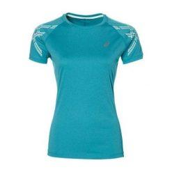 Asics Koszulka damska Stripe SS TOP Dark Grey Heather ciemno szara. Brązowe topy sportowe damskie Asics. Za 106,43 zł.