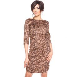 """Sukienki: Sukienka """"Mina"""" w kolorze karmelowym"""