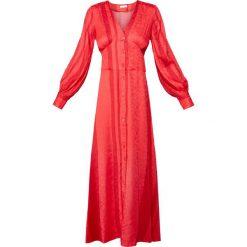 2nd Day ISELIN  Długa sukienka poppy red. Czerwone długie sukienki marki 2nd Day, z materiału, wizytowe, z długim rękawem. W wyprzedaży za 703,20 zł.