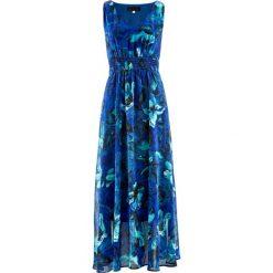 Sukienki: Sukienka szyfonowa bonprix lazurowy z nadrukiem