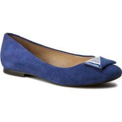 Baleriny SERGIO BARDI - Italia FS127299617AF 613. Niebieskie baleriny damskie zamszowe Sergio Bardi, w geometryczne wzory, na obcasie. W wyprzedaży za 179,00 zł.