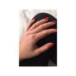 Obrączki: Srebrny pierścionek obrączka kwadratowa