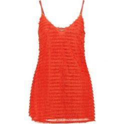 Sukienki hiszpanki: Missguided Petite EXCLUSIVE FRINGE Sukienka koktajlowa red