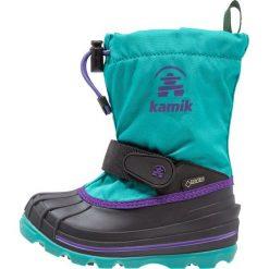 Kamik WATERBUG Śniegowce tea. Niebieskie buty zimowe damskie marki Kamik, z materiału. W wyprzedaży za 299,25 zł.
