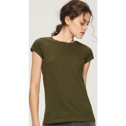 T-shirt Basic - Khaki. Brązowe t-shirty damskie marki DOMYOS, xs, z bawełny. Za 9,99 zł.