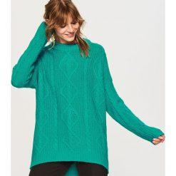 Sweter oversize - Turkusowy. Niebieskie swetry oversize damskie marki Reserved, l. Za 139,99 zł.