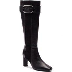Kozaki GEOX - D Vivyanne H. B D849SB 08521 C9999 Black. Czarne buty zimowe damskie Geox, ze skóry ekologicznej, na obcasie. Za 859,00 zł.