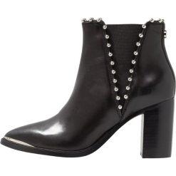 Steve Madden HIMMER Ankle boot black. Czarne botki damskie skórzane marki Steve Madden. Za 629,00 zł.