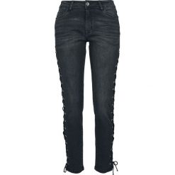 Urban Classics Ladies High Waist Skinny Denim Pants Jeansy damskie czarny. Czarne jeansy damskie Urban Classics, z denimu, z podwyższonym stanem. Za 99,90 zł.
