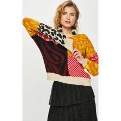 Answear - Sweter. Szare swetry klasyczne damskie ANSWEAR, m, z dzianiny, z okrągłym kołnierzem. Za 169,90 zł.