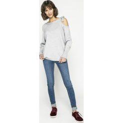 Vila - Sweter. Szare swetry klasyczne damskie marki Vila, l, z dzianiny, z okrągłym kołnierzem. W wyprzedaży za 79,90 zł.