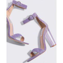 Steve Madden Sandały Teaser - Purple. Fioletowe sandały damskie marki Steve Madden, na wysokim obcasie, na obcasie. Za 485,95 zł.