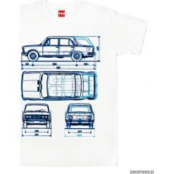 Koszulka FIAT 125 P tshirt. Białe t-shirty męskie z nadrukiem Pakamera, m. Za 77,00 zł.
