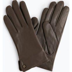 Pearlwood - Skórzane rękawiczki damskie, szary. Szare rękawiczki damskie Pearlwood, ze skóry. Za 299,95 zł.
