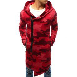 Bluzy męskie: Bluza męska rozpinana z kapturem camo czerwone (bx3239)