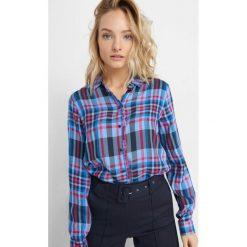 Koszula w kratę. Brązowe koszule damskie marki Orsay, s, z dzianiny. Za 89,99 zł.