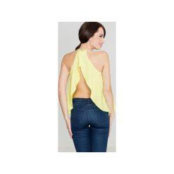 Bluzka K392 Limonka. Zielone bluzki damskie marki Soleil, na co dzień, xs, z dekoltem w łódkę, dopasowane. Za 99,00 zł.