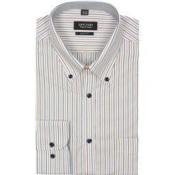 Koszule męskie na spinki: koszula lugar 1935 długi rękaw slim fit pomarańczowy