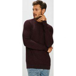 Jack & Jones - Sweter. Brązowe swetry klasyczne męskie Jack & Jones, m, z bawełny, z okrągłym kołnierzem. W wyprzedaży za 99,90 zł.
