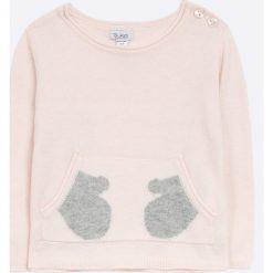 Blukids - Sweter dziecięcy 68-98 cm. Szare swetry dziewczęce Blukids, z bawełny, z okrągłym kołnierzem. W wyprzedaży za 49,90 zł.