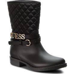 Kalosze GUESS - FLRAN3 RUB11 BLACK. Czarne buty zimowe damskie Guess, z materiału. W wyprzedaży za 499,00 zł.