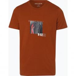 Review - T-shirt męski, beżowy. Brązowe t-shirty męskie z nadrukiem Review, m. Za 69,95 zł.
