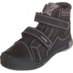 Sneakersy w kolorze granatowo-szarym. Niebieskie trampki chłopięce Zimowe obuwie dla dzieci, z materiału. W wyprzedaży za 115,95 zł.