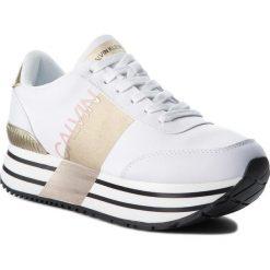 Sneakersy CALVIN KLEIN JEANS - Coretta RE9807 White/Gold. Białe sneakersy damskie Calvin Klein Jeans, z jeansu. Za 719,00 zł.