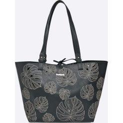 Desigual - Torebka. Czarne shopper bag damskie Desigual, z materiału, do ręki, duże. W wyprzedaży za 199,90 zł.