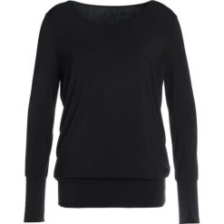 Bluzki asymetryczne: Curare Yogawear LAP SHOULDER Bluzka z długim rękawem black