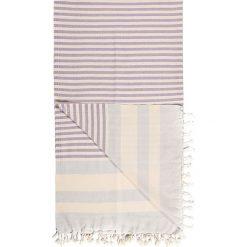 Chusta hammam w kolorze fioletowym - 180 x 100 cm. Czarne chusty damskie marki Hamamtowels, z bawełny. W wyprzedaży za 43,95 zł.