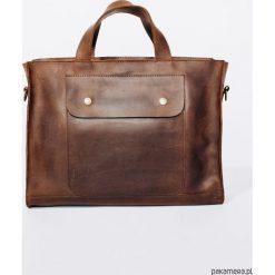 TOREBKA Skórzana Lezerton T03 Brązowa. Brązowe torby na laptopa marki Pakamera. Za 669,00 zł.
